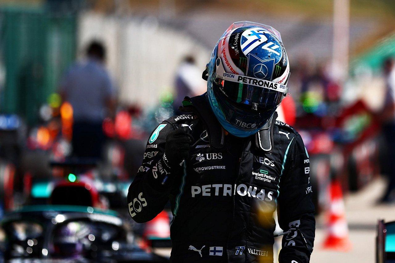 F1ポルトガルGP 予選:ボッタスがPP獲得でメルセデスF1が1列目独占。レッドブル・ホンダF1勢が2列目