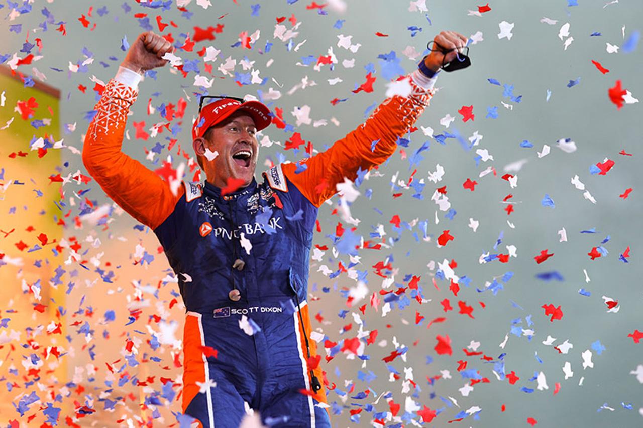 インディカー 第3戦テキサス:スコット・ディクソンが優勝。佐藤琢磨9位