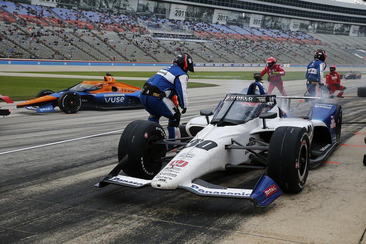 佐藤琢磨、テキサスのレース1は9位フィニッシュ「厳しいレースでした」 / インディカー 第3戦