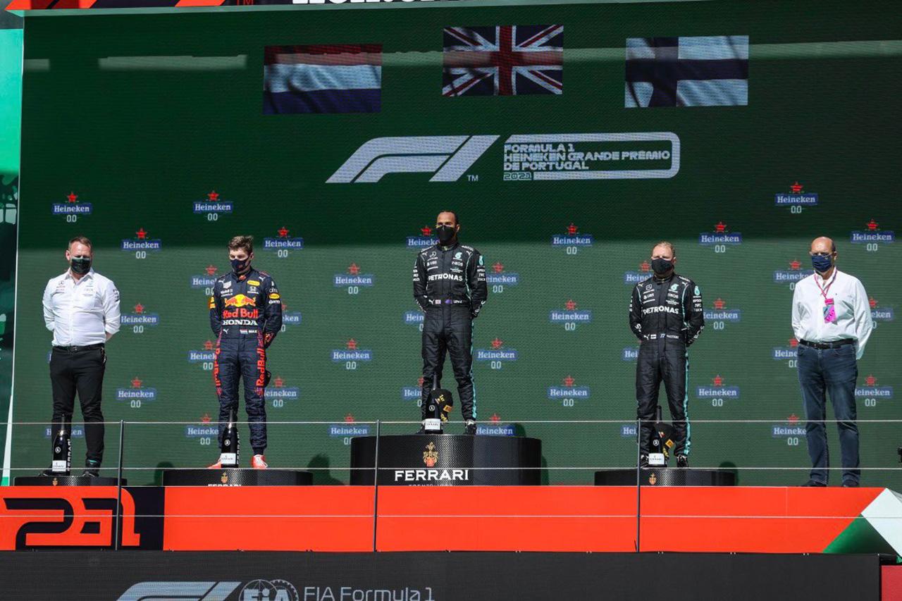 2021年 F1ポイントランキング (第3戦 F1ポルトガルGP終了時点)