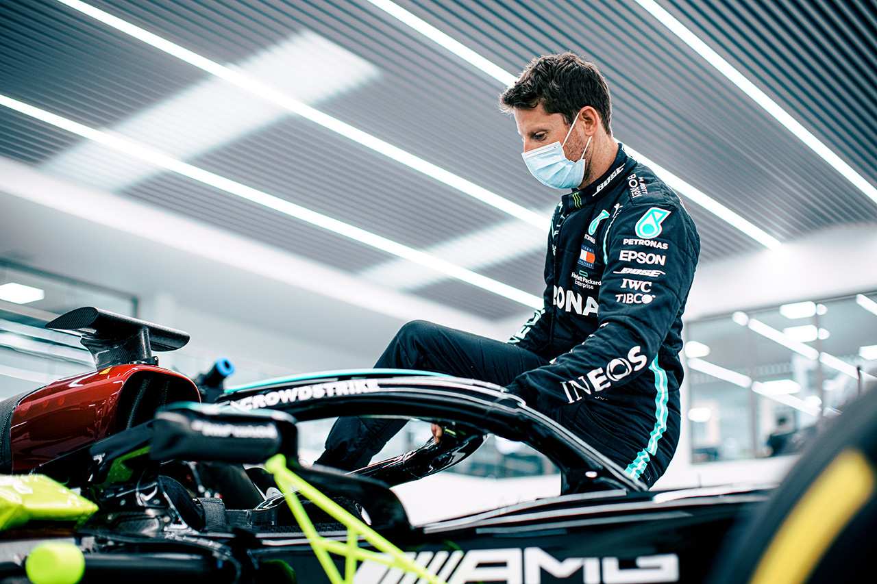 ロマン・グロージャン、F1フランスGPでメルセデスのF1マシンでデモ走行が決定!