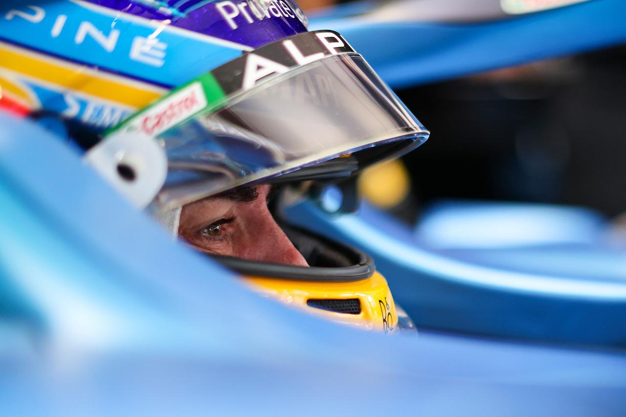 フェルナンド・アロンソ 「予選でどの位置にいるか見てみよう」 / アルピーヌ F1スペインGP 金曜フリー走行