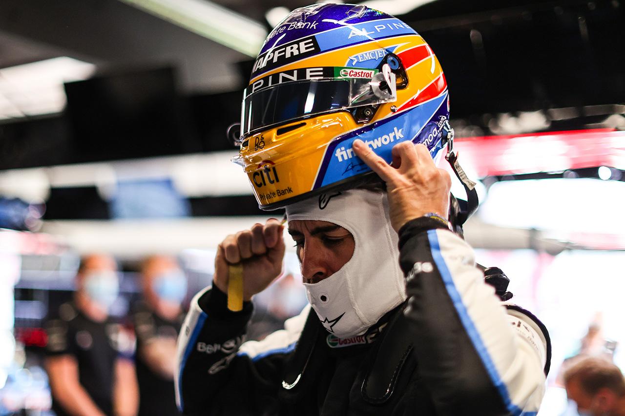 フェルナンド・アロンソ 「Q3のアウトラップがちょっと乱雑だった」 / アルピーヌ F1スペインGP 予選