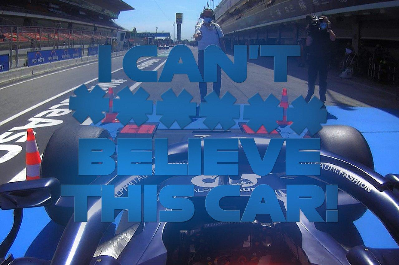 【動画】 角田裕毅、無線  『I can't f***ing believe this car!』 / F1スペインGP 予選
