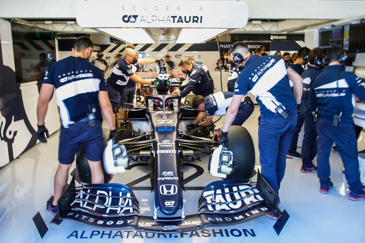 角田裕毅 「エンジニアとデータをさらに細かく見直していく」  / アルファタウリ・ホンダ F1スペインGP 予選