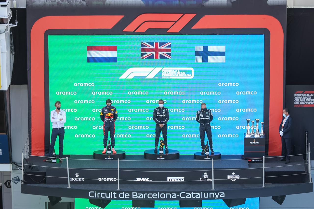 2021年 F1ポイントランキング (第4戦 F1スペインGP 終了時点)