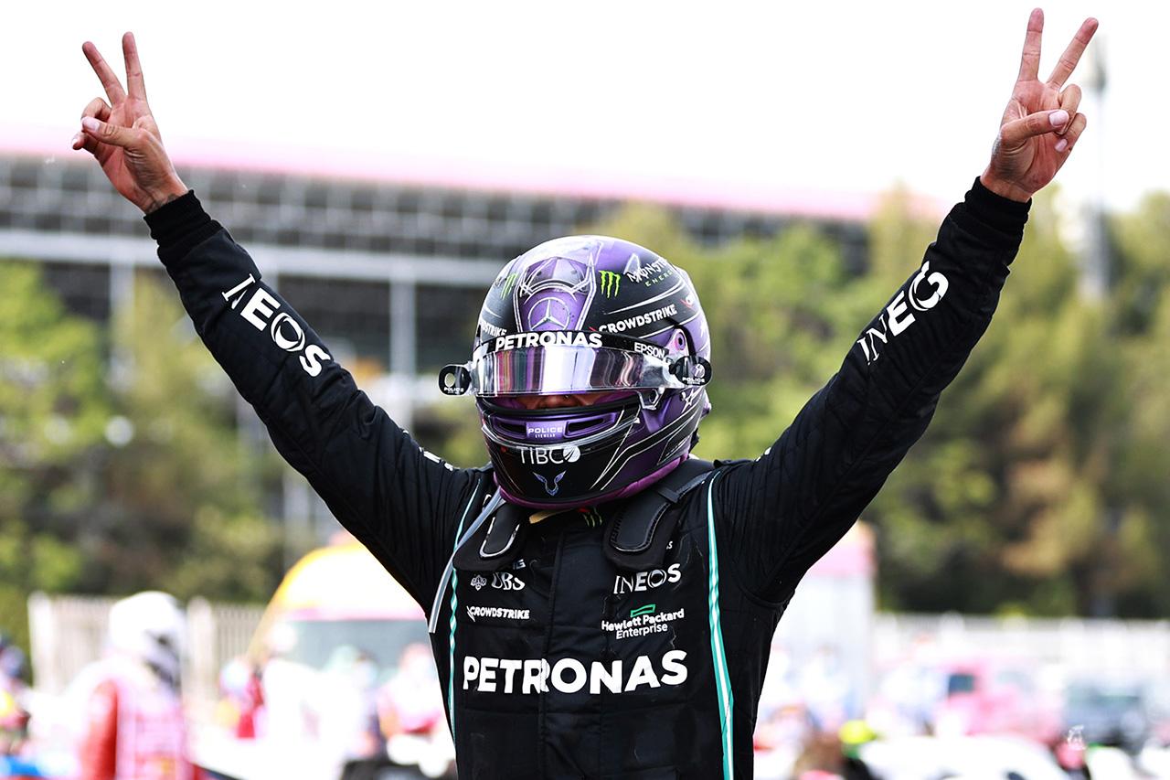 F1スペインGP 決勝:メルセデスが戦略勝ちでハミルトンが今季3勝目。レッドブル・ホンダのフェルスタッペンが2位表彰台