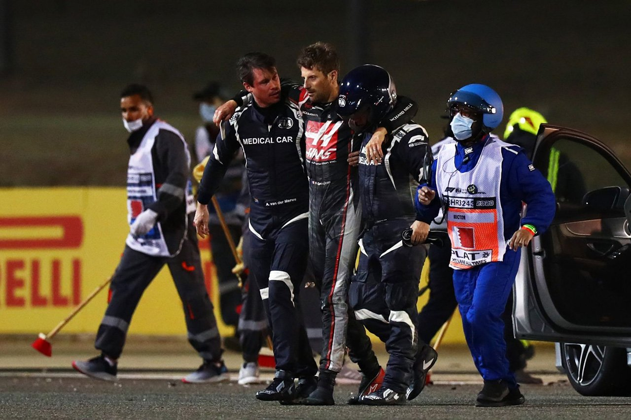 F1:ロマン・グロージャン 「クラッシュのフラッシュバックに苦しんだ」