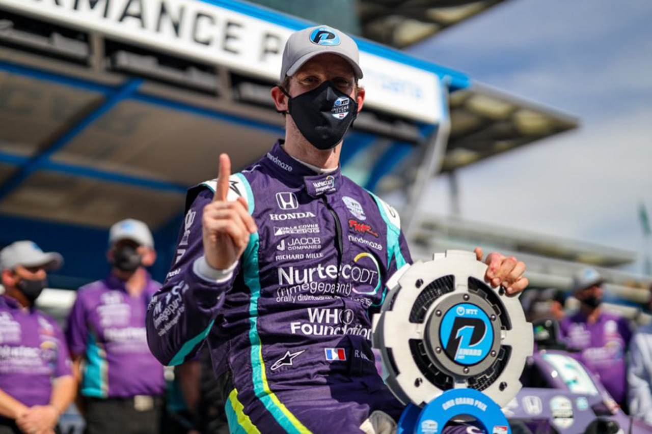 インディカー:グロージャンがF1から転向3戦目で初ポール獲得。佐藤琢磨は17番手 / 第5戦