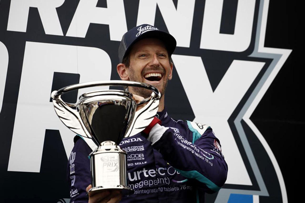 ロマン・グロージャン、初表彰台「F1から来てからのサポートは力強い」 / インディカー 第5戦
