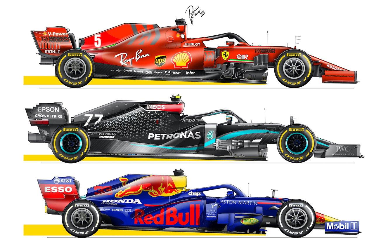 2021年F1マシン レーキ角