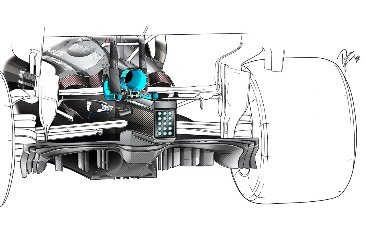 メルセデス W12 ディフューザー