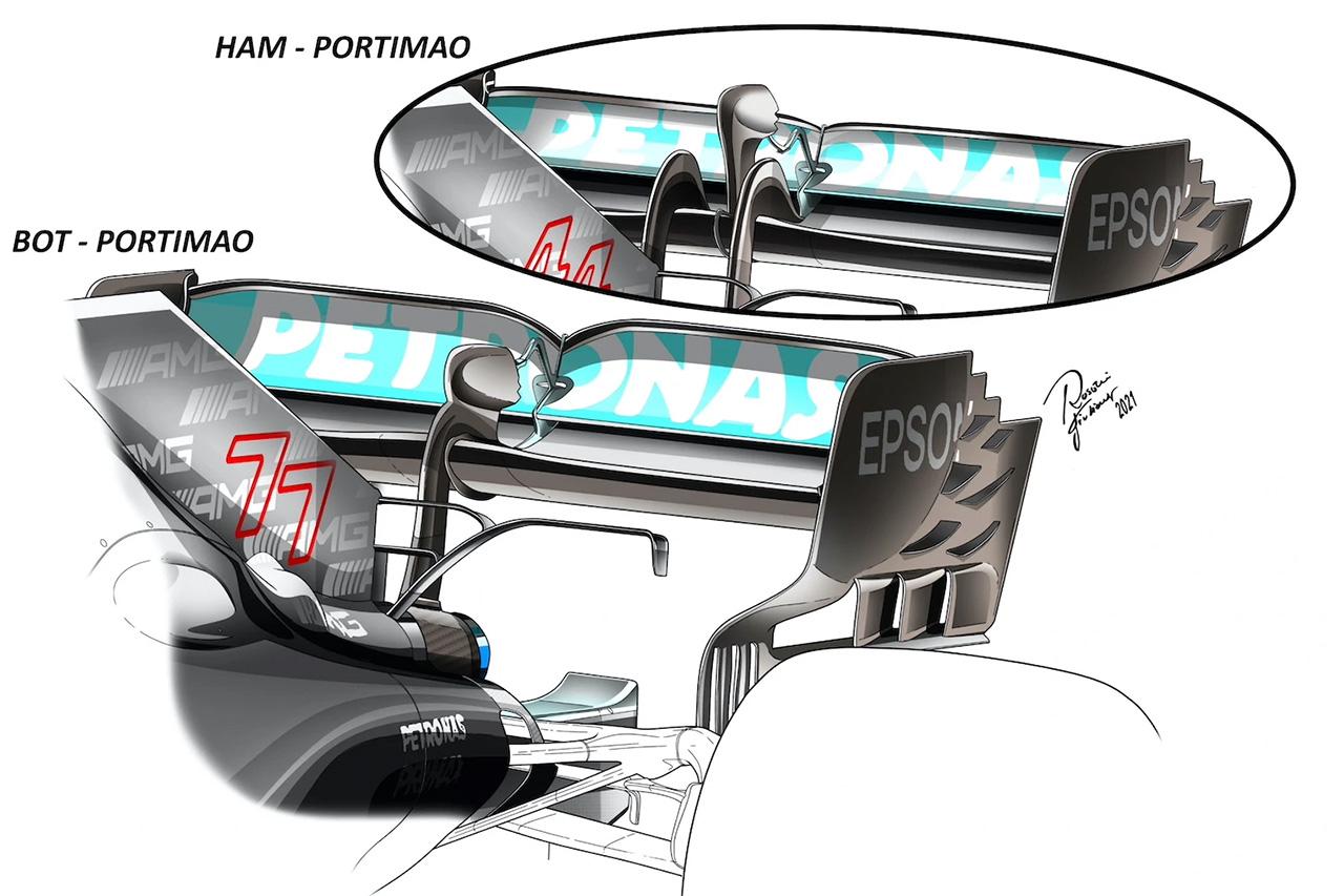 メルセデス W12 リアウイング / F1スペインGP