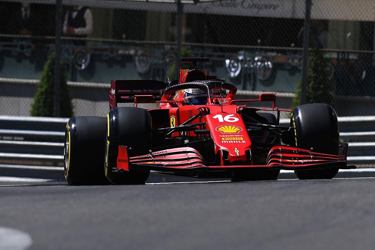 F1モナコGP フリー走行2回目:ルクレール首位でフェラーリがワンツー。レッドブルF1のフェルスタッペンは4番手