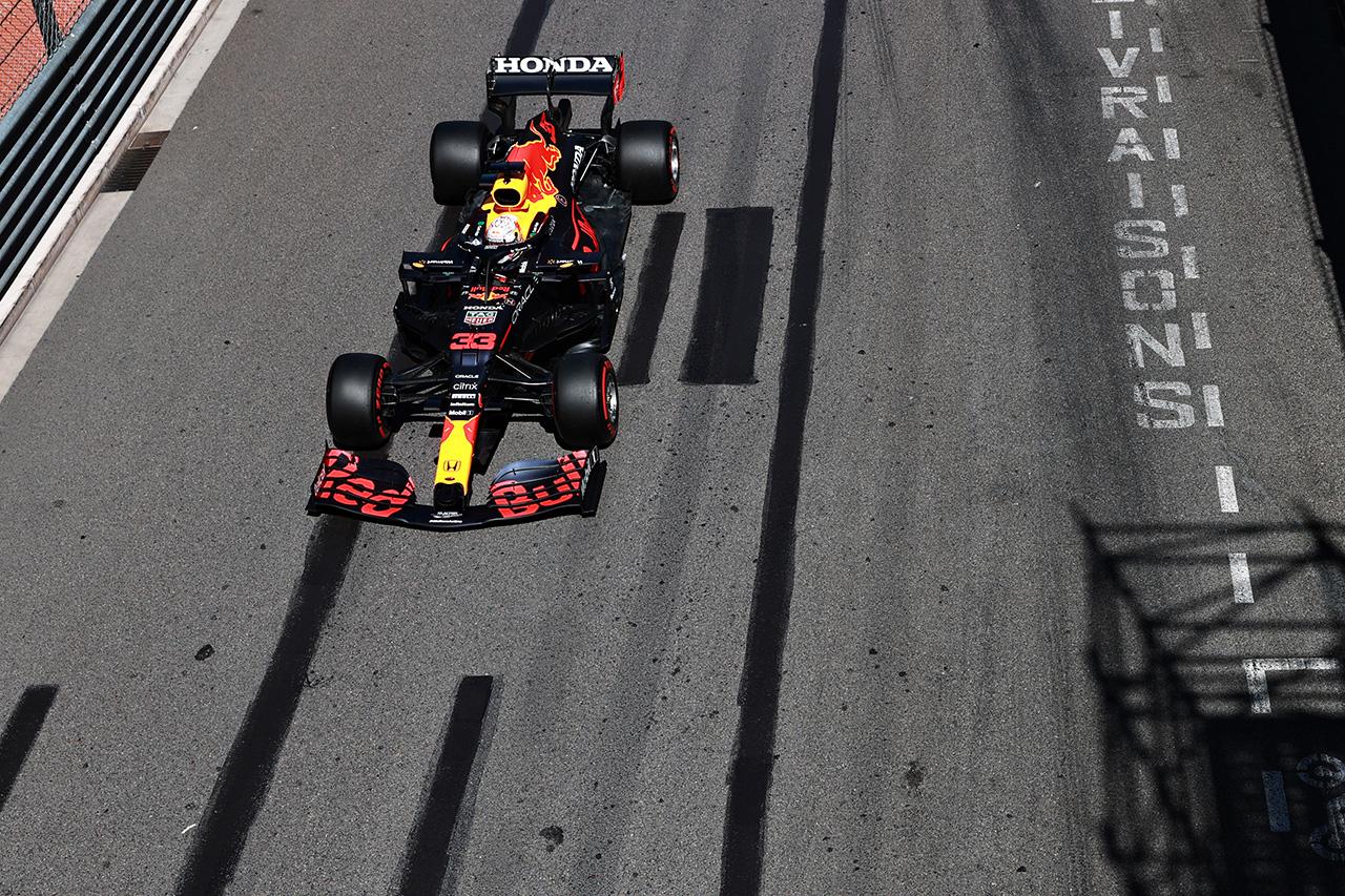F1モナコGP フリー走行3回目:レッドブルF1のフェルスタッペンが最速。好調フェラーリ勢が2-3に続く