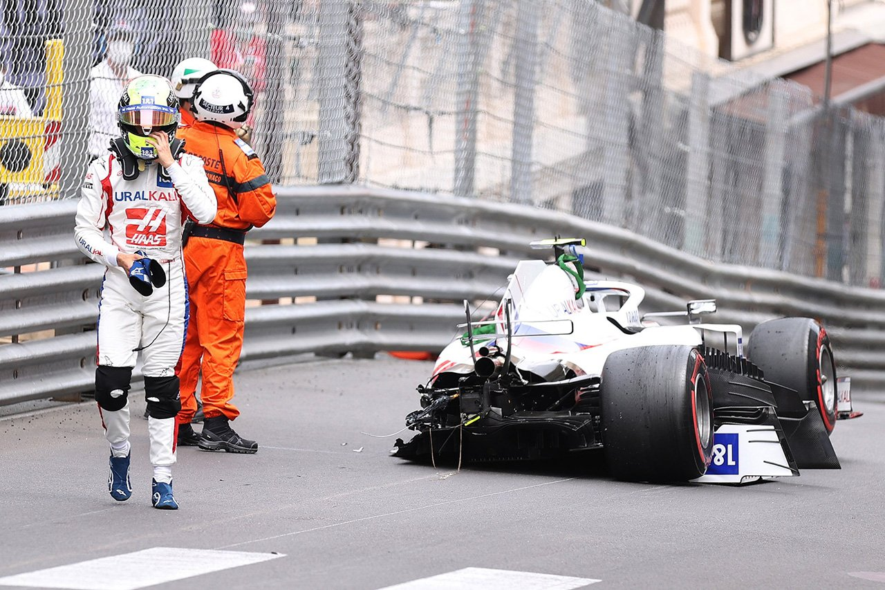 ミック・シューマッハ、チームに謝罪「マシンをプッシュしすぎた」 / ハースF1チーム F1モナコGP 予選