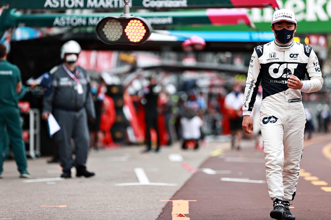 角田裕毅、2戦連続Q1敗退 「車検に呼ばれて走行プランが狂った」 / アルファタウリ・ホンダ F1モナコGP 予選