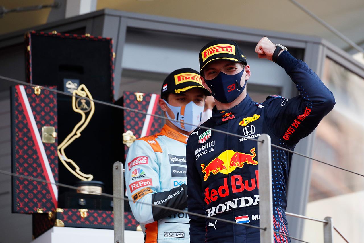 F1モナコGP 決勝:レッドブル・ホンダF1のフェルスタッペが今季2勝目!両方のチャンピオンシップで首位に浮上!