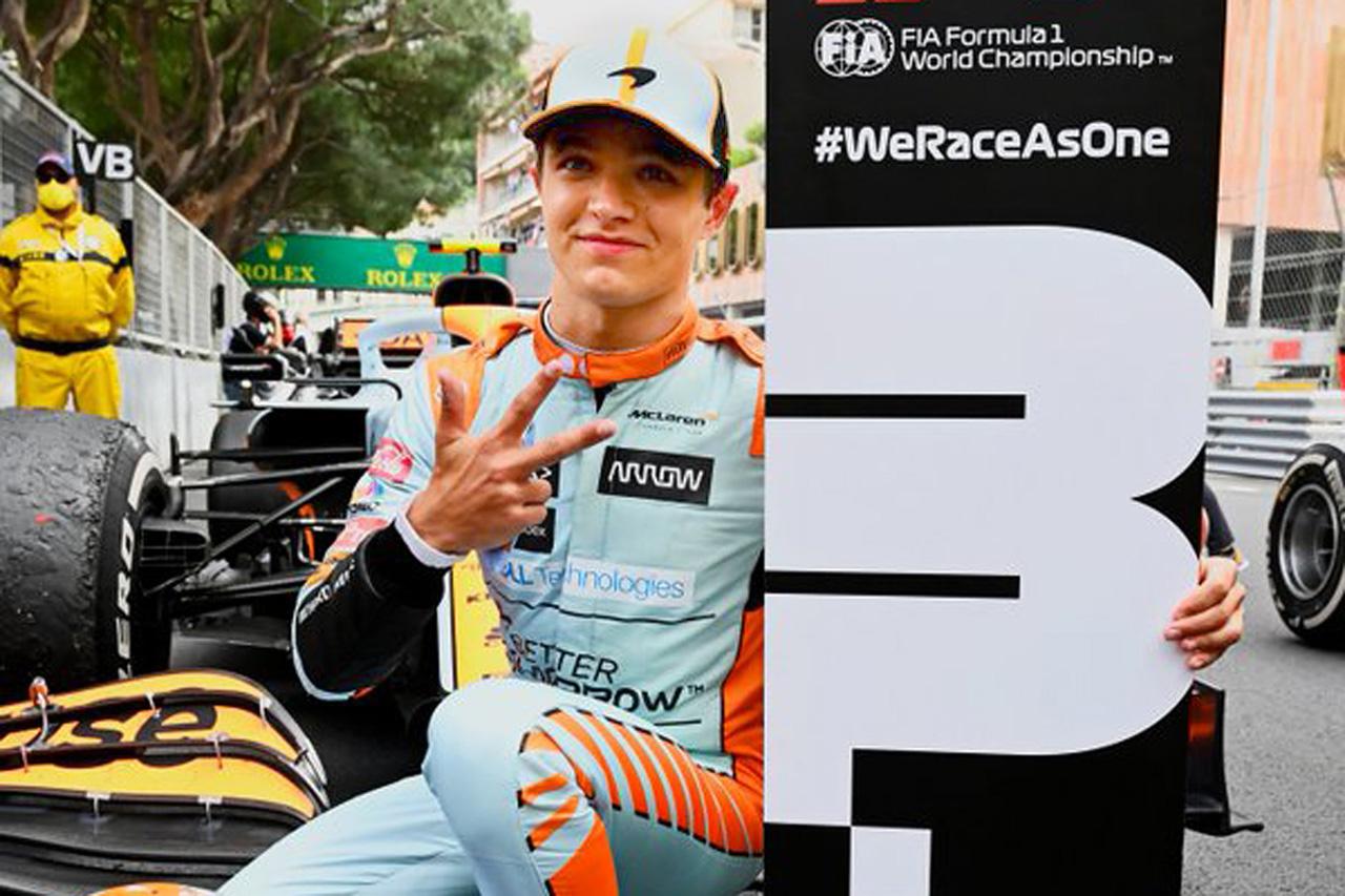 ランド・ノリス 「モナコの表彰台は夢見ていたこと。大切にしていく」 / マクラーレン F1モナコGP 決勝