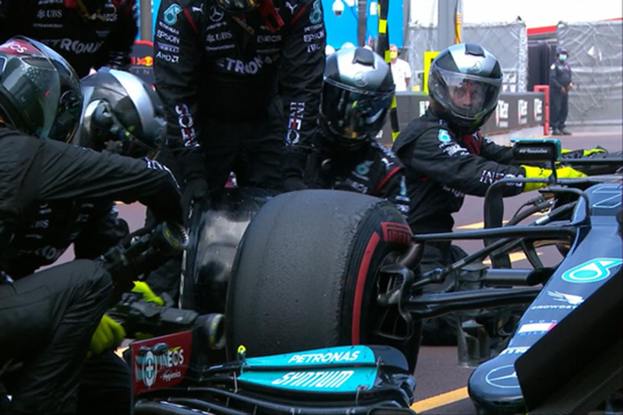 メルセデスF1、ファクトリーに戻るまでボッタスのホイールを外せず / F1モナコGP
