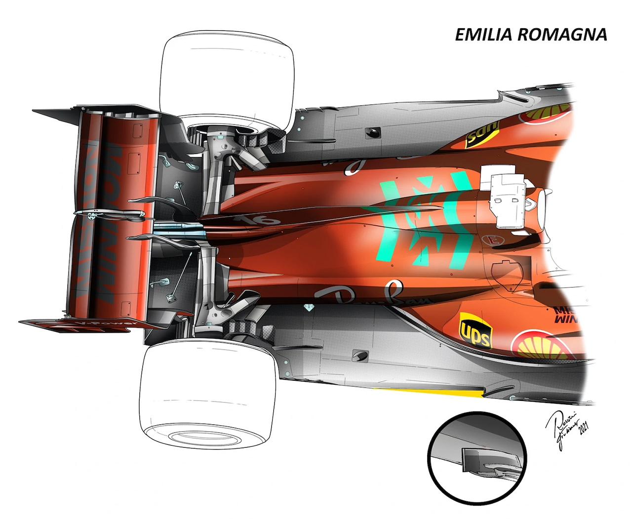フェラーリF1 Z字型フロア