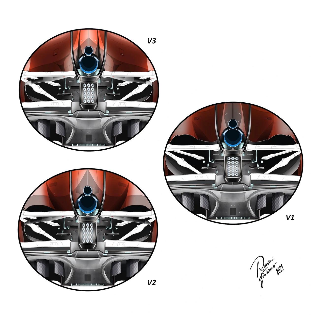 フェラーリF1 冷却