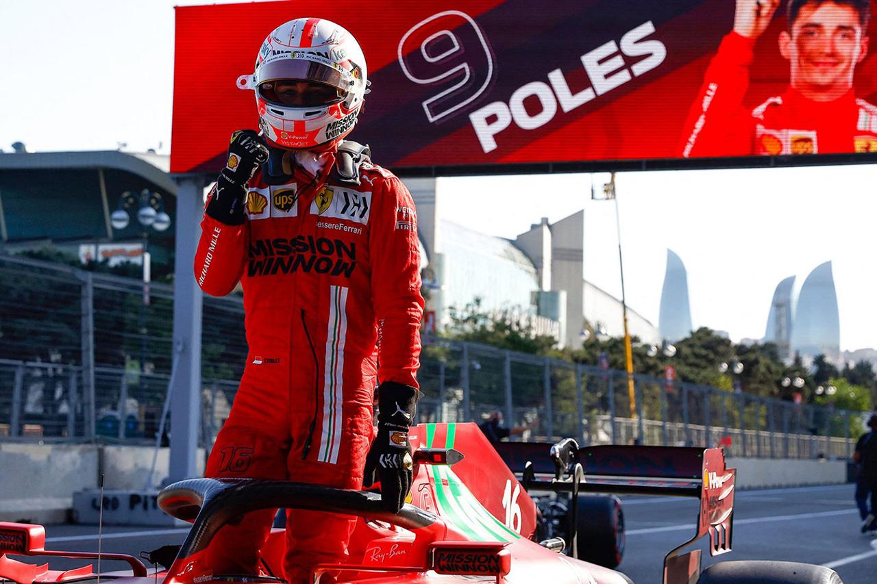 F1アゼルバイジャンGP 予選結果:ルクレールが2戦連続ポール!赤旗4回!レッドブルF1のフェルスタッペン3番手