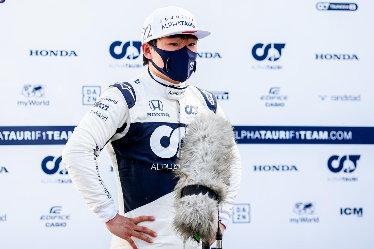 角田裕毅、10番手に手応え「ペース自体は間違いなくいい」 / アルファタウリ・ホンダ F1アゼルバイジャンGP 金曜フリー走行