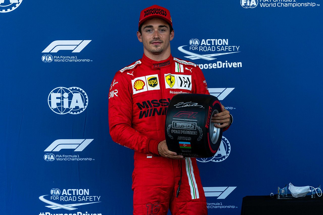 シャルル・ルクレール 「決勝でもポジティブなサプライズを期待したい」 / フェラーリ F1アゼルバイジャンGP 予選