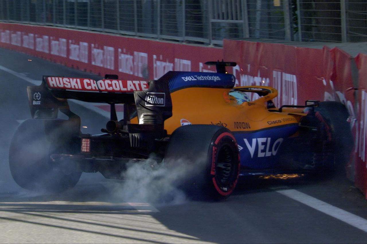 ダニエル・リカルド、クラッシュも「限界を見つけようとしてのこと」 / マクラーレン F1アゼルバイジャンGP 予選