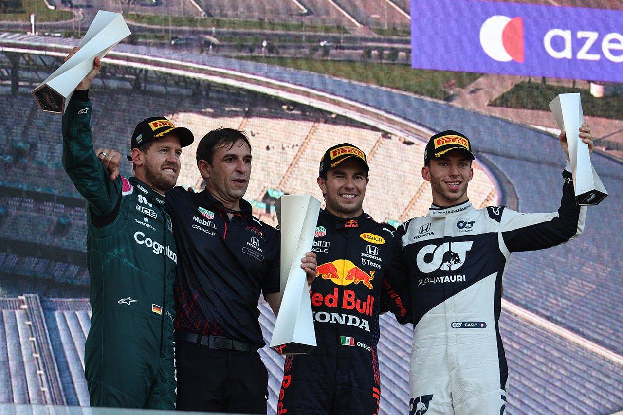F1アゼルバイジャンGP 結果:大波乱!ペレスがレッドブルF1移籍後初勝利!フェルスタッペンとハミルトンはノーポイント