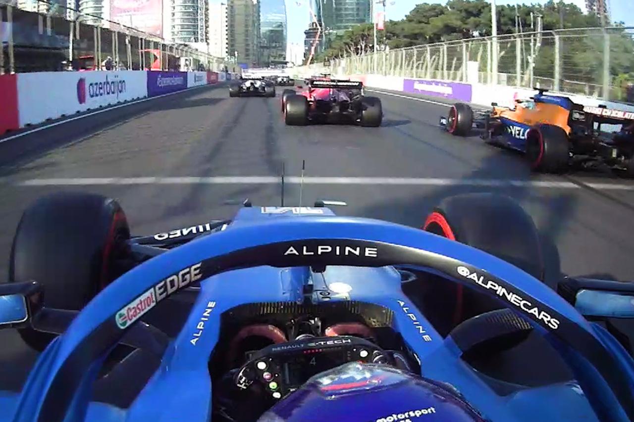 """【動画】 フェルナンド・アロンソ、""""2周のレース""""で4ポジションアップ / F1アゼルバイジャンGP 決勝"""