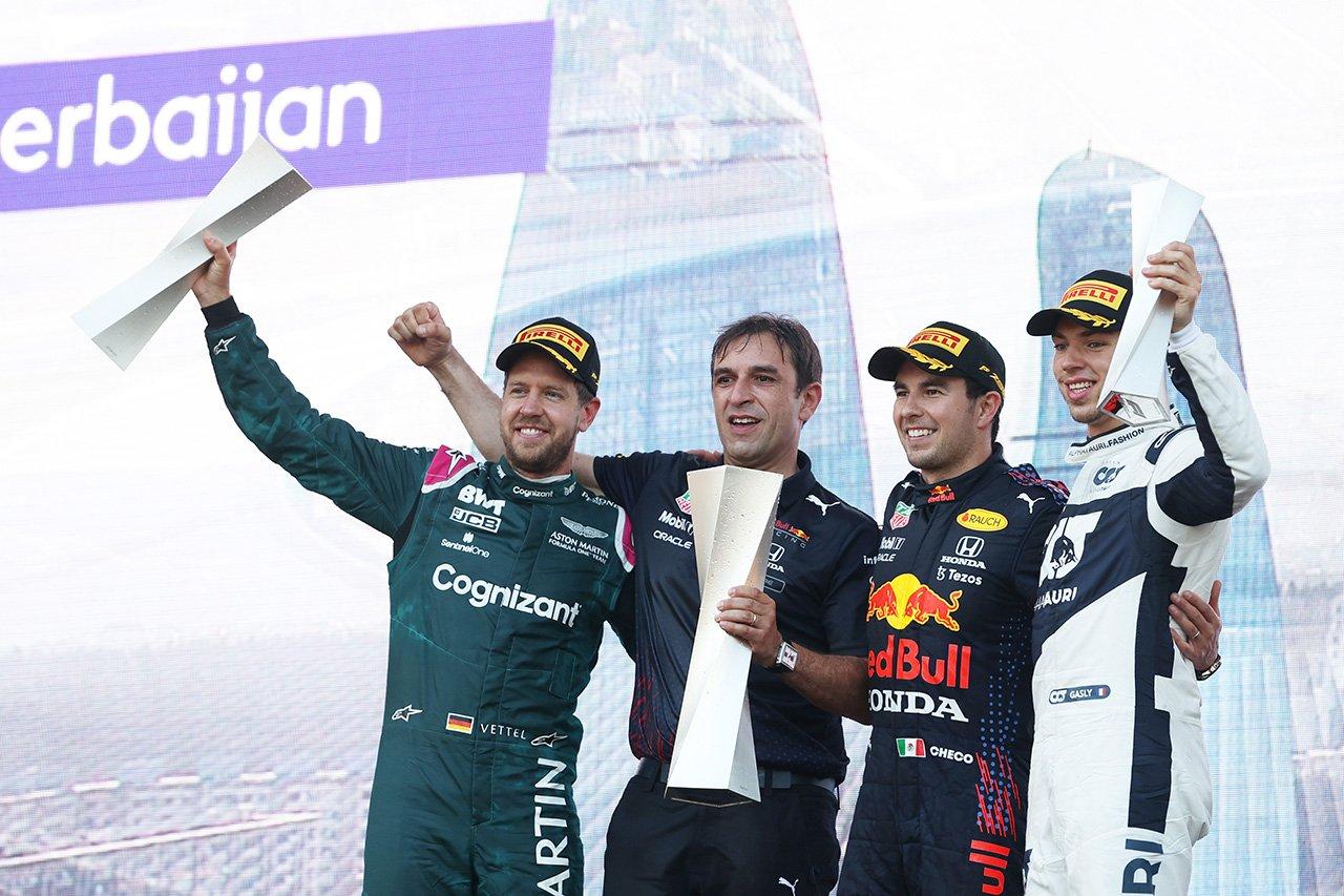 2021年 F1ポイントランキング (第6戦 F1アゼルバイジャンGP 終了時点)