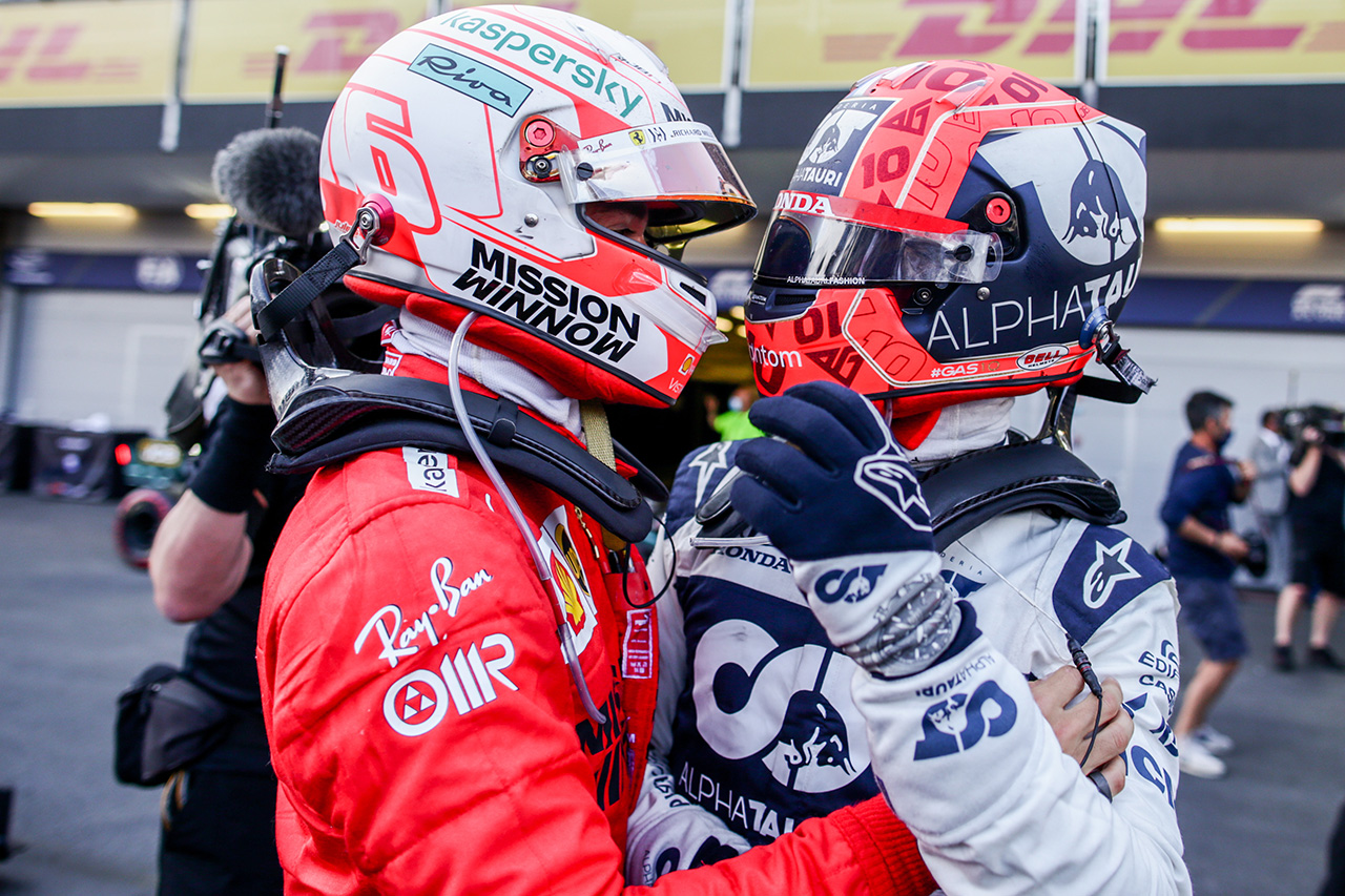 シャルル・ルクレールとピエール・ガスリー / 2021 F1 アゼルバイジャングランプリ