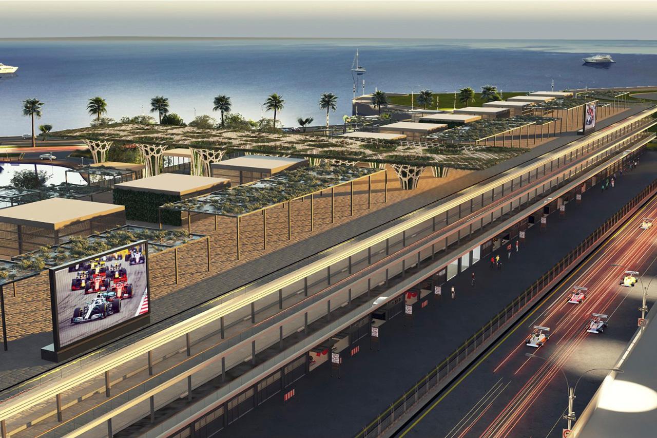 F1サウジアラビアGP:パドックコンプレックスのレンダリングを公開