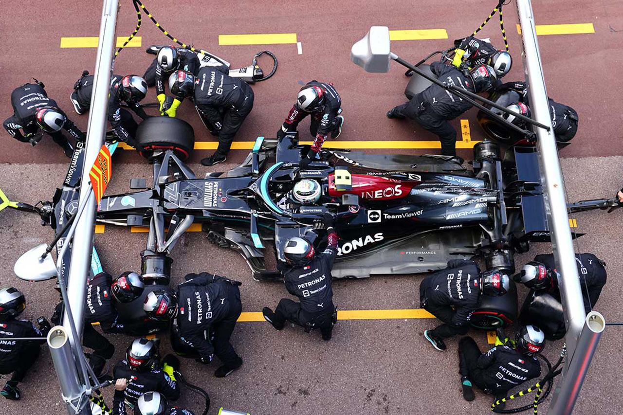 メルセデスF1 「ペレスのペナルティ待ちでファステストのチャンスを失った」  / F1フランスGP
