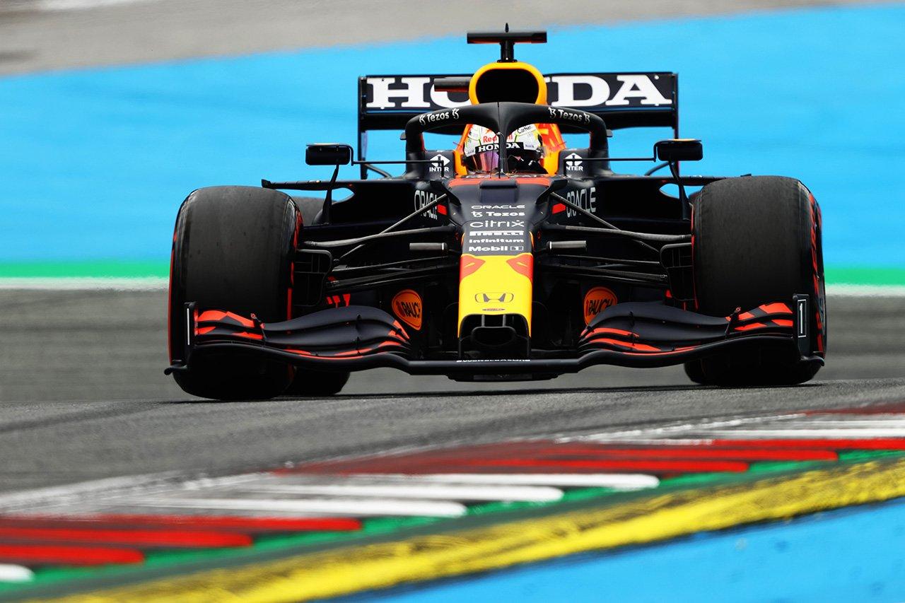"F1オーストリアGP フリー走行1:レッドブルF1のフェルスタッペンが最速。メルセデスF1は""実験中"""