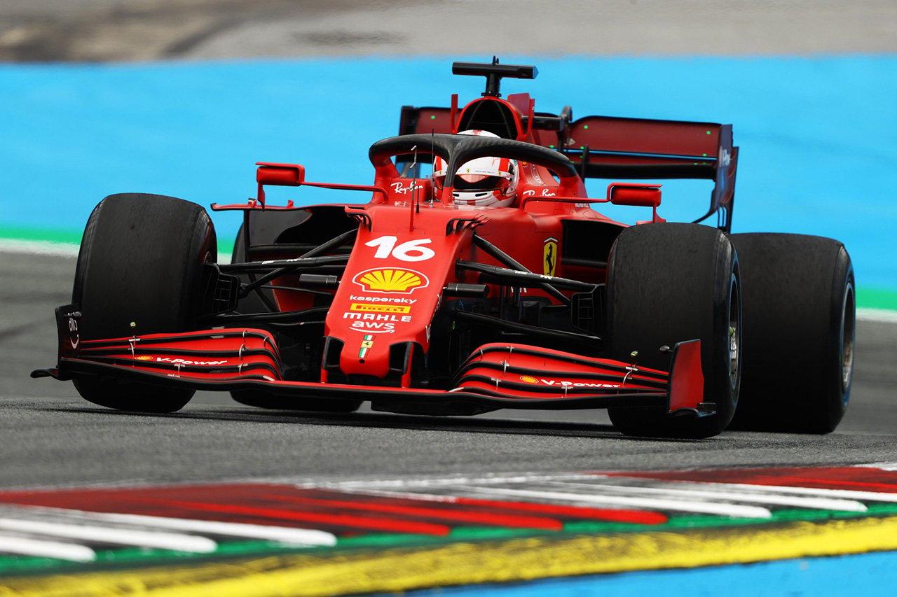 フェラーリF1のシャルル・ルクレール、16番手タイムも「先週と同じくらい競争力がある」 / F1オーストリアGP 金曜フリー走行