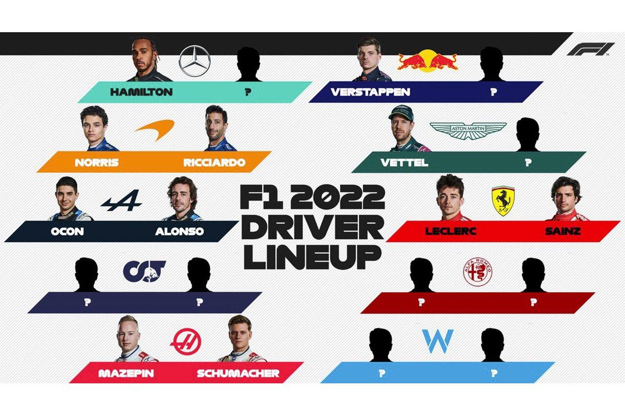 2022年 F1ドライバー 契約状況…ハミルトンのメルセデス残留が決定
