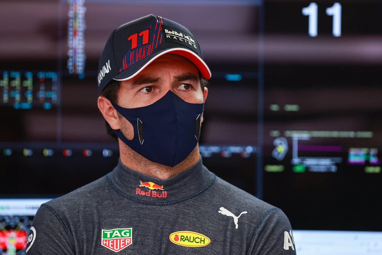 セルジオ・ペレス 「スピンでタイヤの振動が大きくなってリタイアを決断」/ レッドブル・ホンダ F1イギリスGP スプリント予選