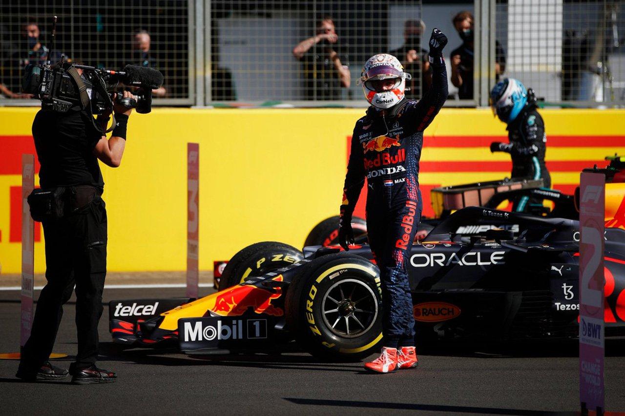 マックス・フェルスタッペン 「序盤はルイスと素晴らしいバトルができた」 / F1イギリスGP スプリント予選