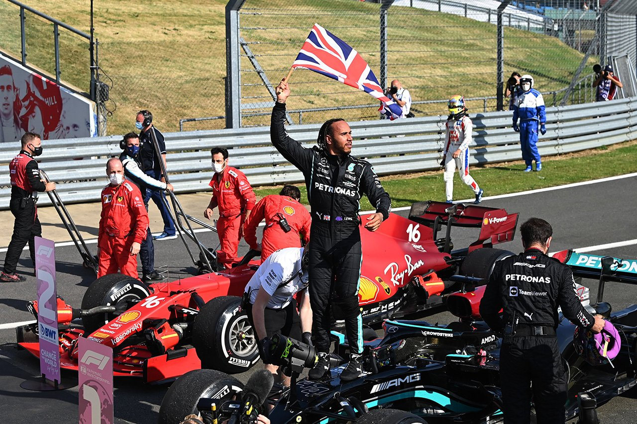 F1イギリスGP 結果:母国レースのルイス・ハミルトンが通算99勝目!角田裕毅が10位入賞