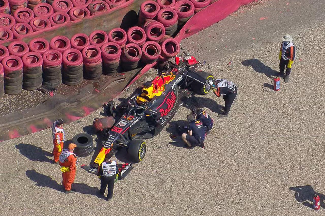 大破したマックス・フェルスタッペンのマシン / 2021年 F1イギリスGP