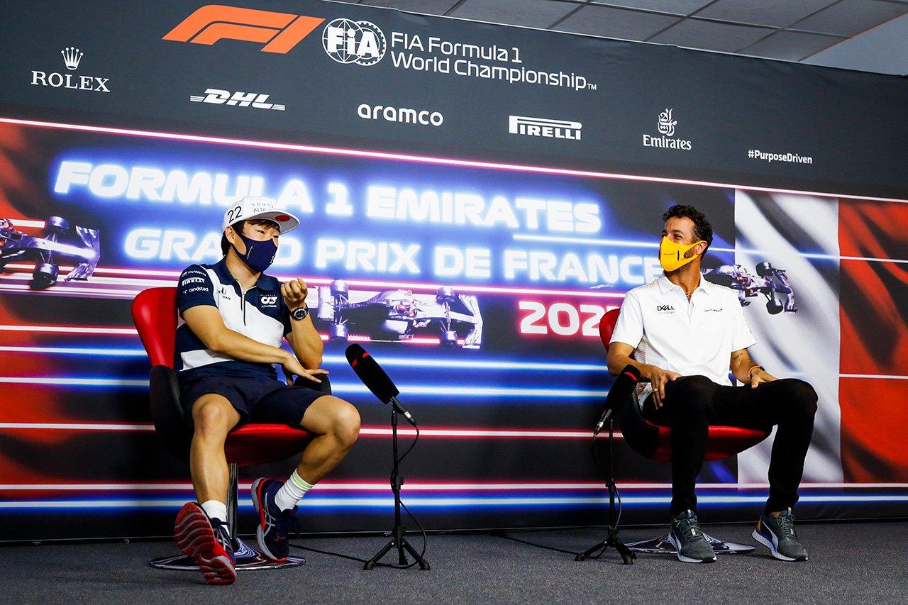 ダニエル・リカルド、F1ルーキーの角田裕毅に助言 「道を踏み外すな」