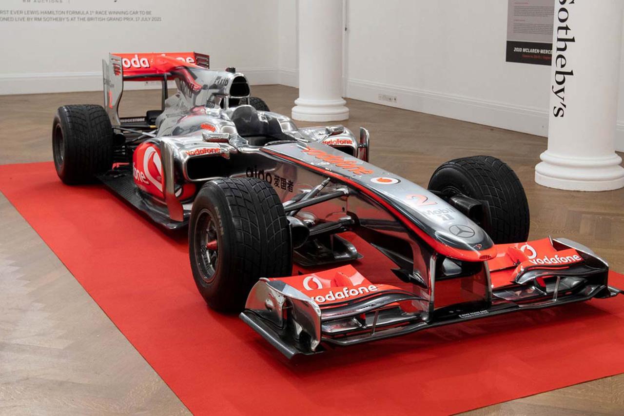 F1:ルイス・ハミルトンのマクラーレン MP4-25Aが7億3000万円で落札