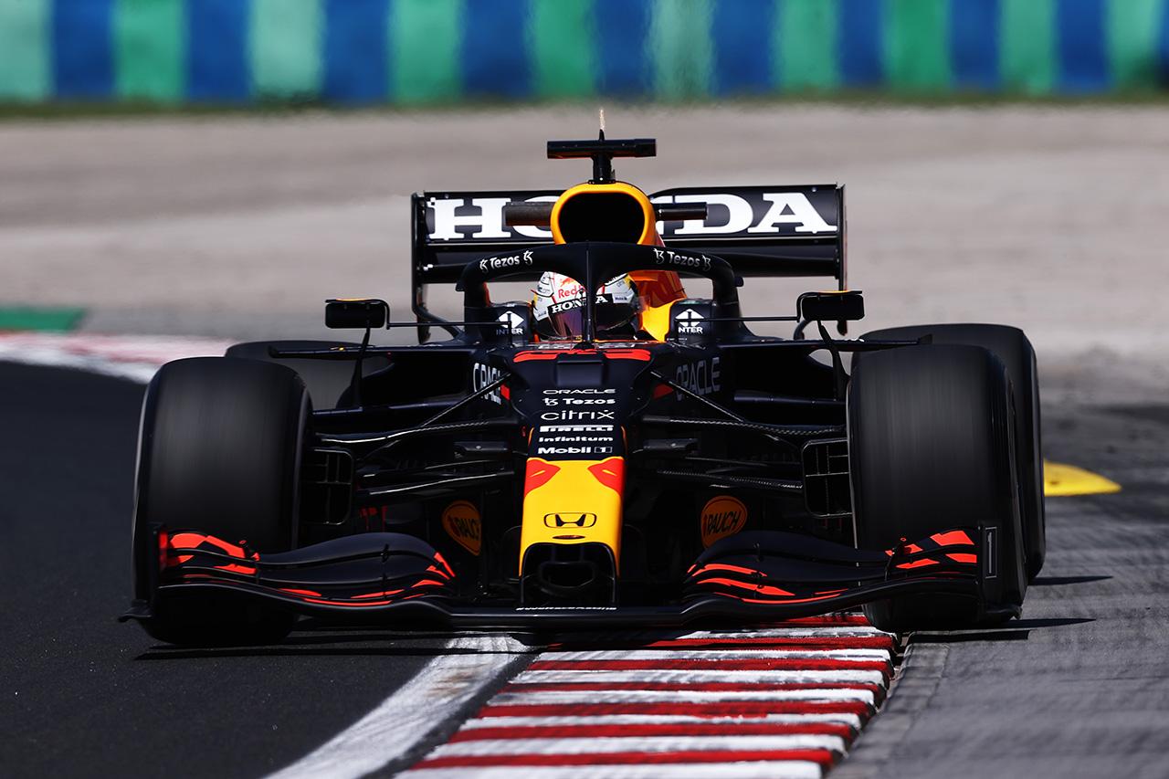 F1ハンガリーGP フリー走行1回目:フェルスタッペンが首位発進。前戦クラッシュのホンダのF1エンジンも順調に稼働