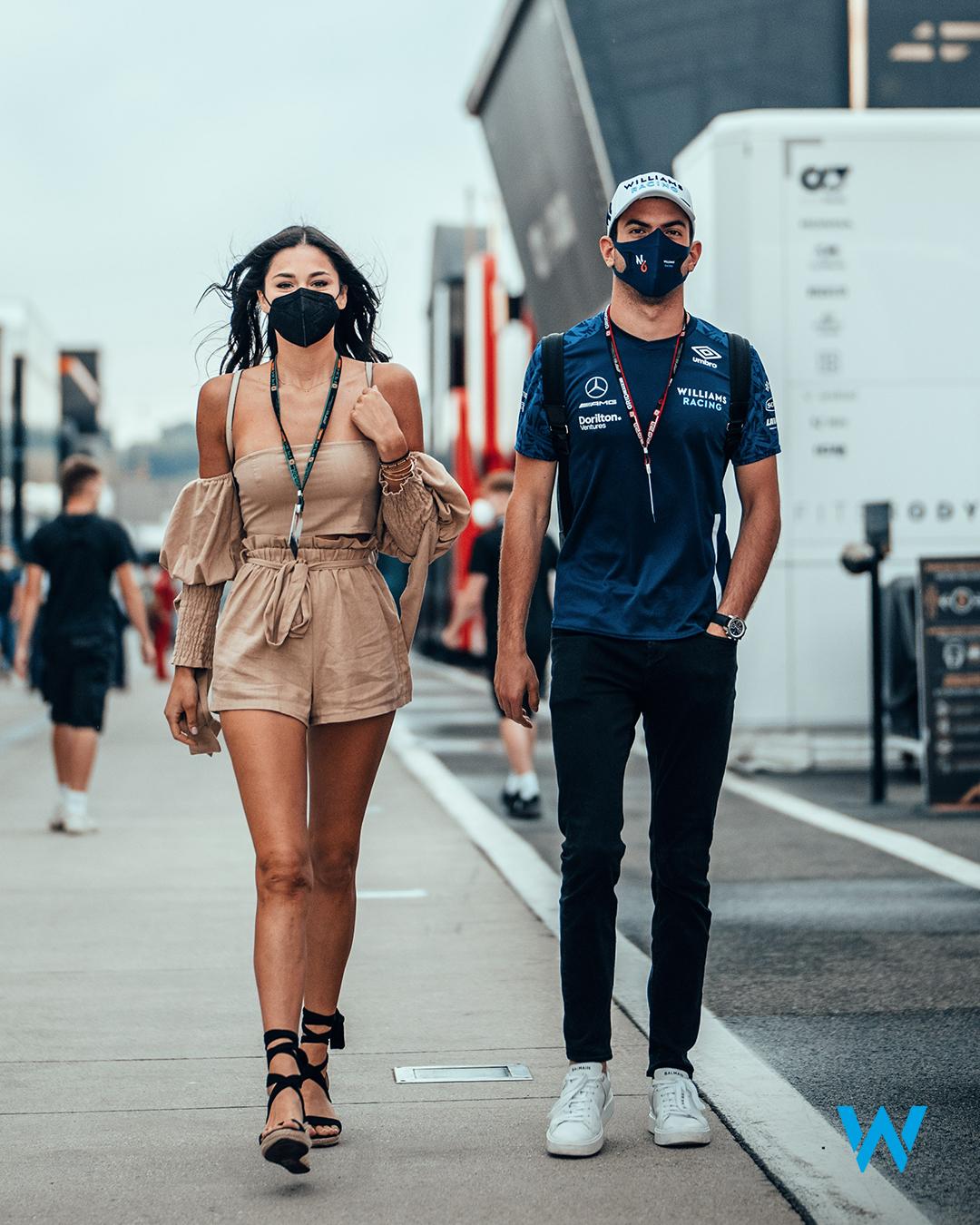 ニコラス・ラティフィとSandra Dziwiszek / 2021年 F1ハンガリーGP