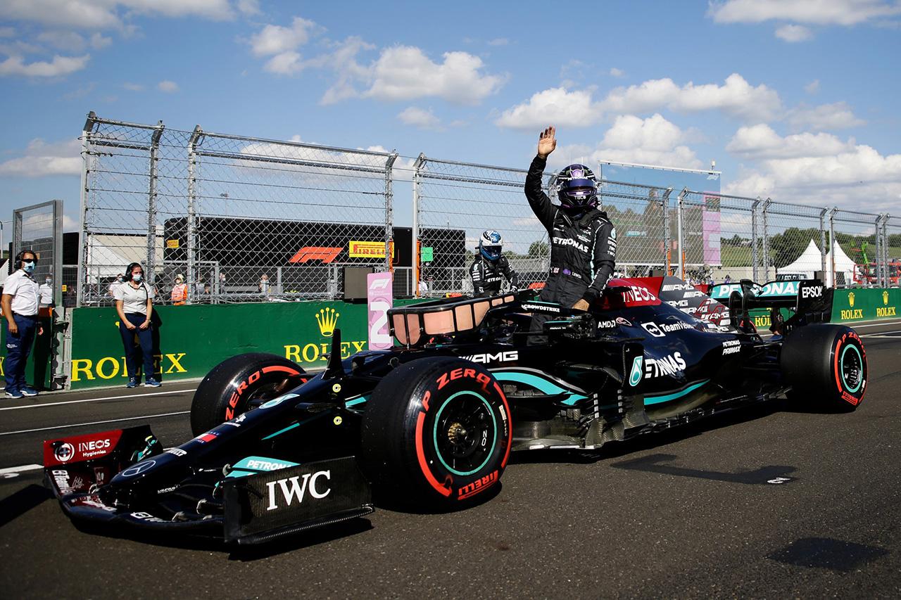 F1ハンガリーGP 予選:ハミルトンPP獲得でメルセデスが1列目独占。2列目レッドブルF1はソフトスタートの劣勢