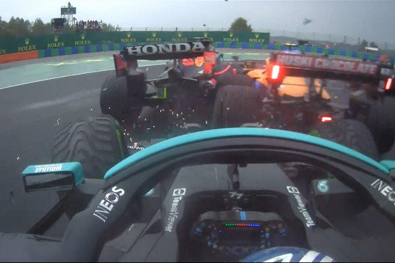 【動画】 F1ハンガリーGP 決勝:1周目の1コーナーで多重クラッシュ