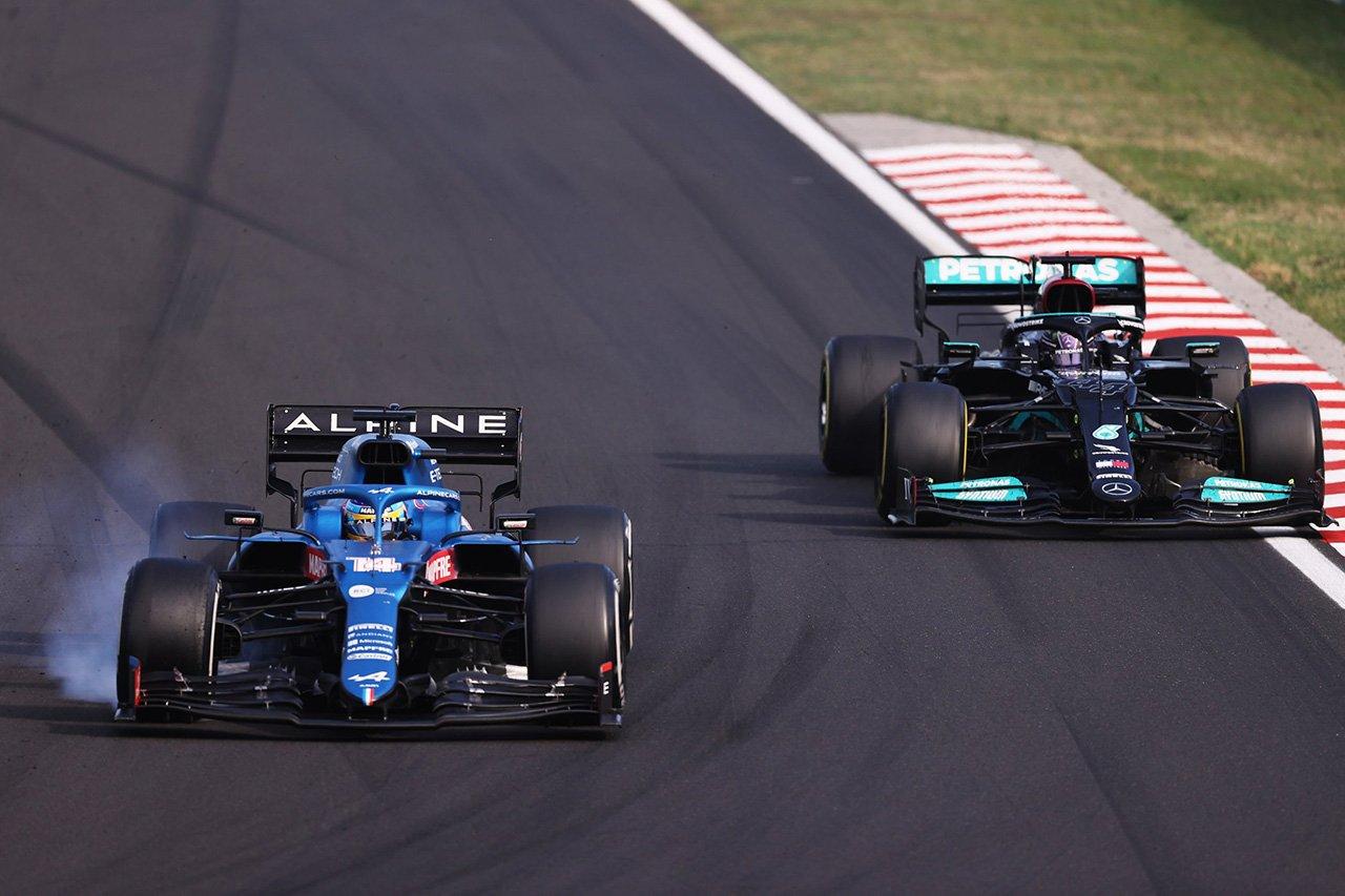 フェルナンド・アロンソ 「バトルの中でハミルトンに良いラインを教えた」 / F1ハンガリーGP 決勝